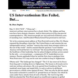 US Interventionism Has Failed, But…