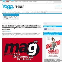 En Ile-de-France, annulation d'interventions contre l'homophobie dans des établissements scolaires