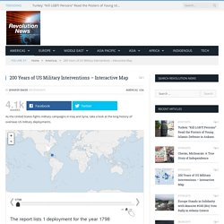 200 Years of US Military Interventions - Interactive Map