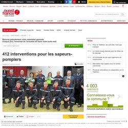 412 interventions pour les sapeurs-pompiers