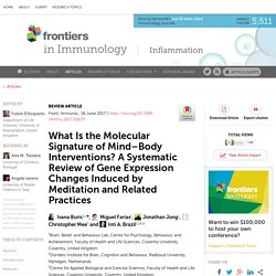 What Is the Molecular Signature of Mind–Body Interventions? A Systematic Review of Gene Expression Changes Induced by Meditation and Related Practices