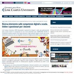 Ricerca-intervento sulle competenze digitali a scuola. Online i questionari per i docenti