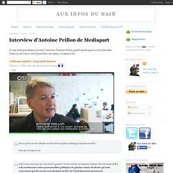 Interview d'Antoine Peillon de Mediapart