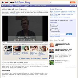 Teen Job Interview Attire - What Attire Teens Should Wear to a Job Interview Video