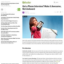 Got a Phone Interview? Make it Awesome, Not Awkward