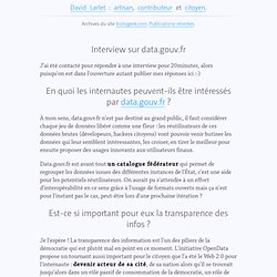 Interview sur data.gouv.fr