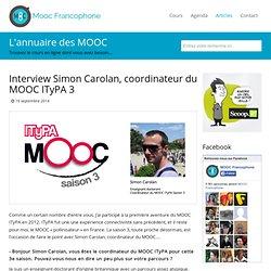 Interview Simon Carolan - MOOC ITyPA 3
