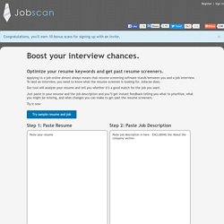 Boost Your Interview Chances