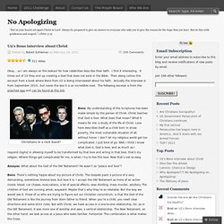 U2′s Bono interview about Christ