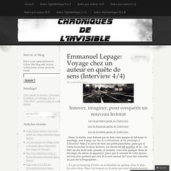 Emmanuel Lepage: Voyage chez un auteur en quête de sens (Interview 4/4)