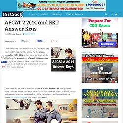 AFCAT 2 2014 and EKT Answer Keys .google