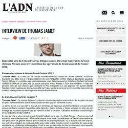 Interview de Thomas Jamet