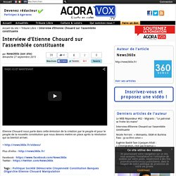 Interview d'Etienne Chouard sur l'assemblée constituante