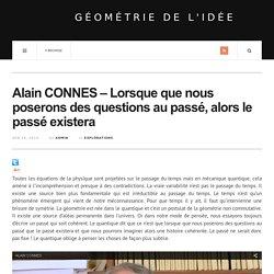 Interview d'Alain Connes