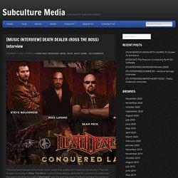 [MUSIC INTERVIEW] DEATH DEALER (ROSS THE BOSS) Interview - Subculture Media