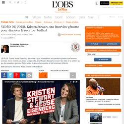 VIDÉO DU JOUR. Kristen Stewart, une interview gênante pour dénoncer le sexisme : brillant