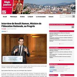 Interview de Benoît Hamon, Ministre de l'Education Nationale, au Progrès