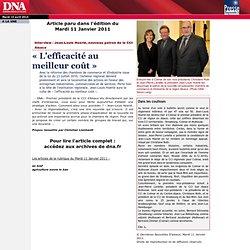 Interview / Jean-Louis Hoerlé, nouveau patron de la CCI Alsace / «L'efficacité au meilleur coût»