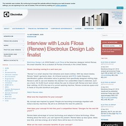Interview with Louis Filosa (Renew) Electrolux Design Lab finalist