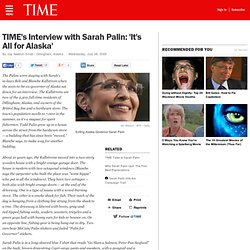 TIME's Interview with Exiting Alaska Governor Sarah Palin
