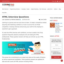 HTML Interview Questions for Freshers and Experienced-Coding Tag