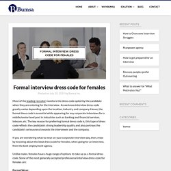 Formal interview dress code for females