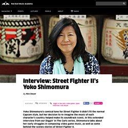 Street Fighter II's Yoko Shimomura