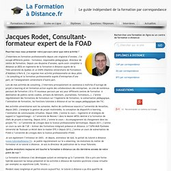 Interview de Jacques Rodet - La Formation à Distance.fr