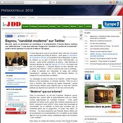 Les twitt-interview de François Bayrou, ''une image de modernité''