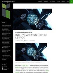 Interview: GMUNK (TRON: Legacy)