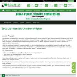 BPSC AE Interview Guidance Program