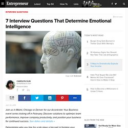 7 Interview Questions That Determine Emotional Intelligence