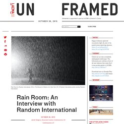 Rain Room: An Interview with Random International