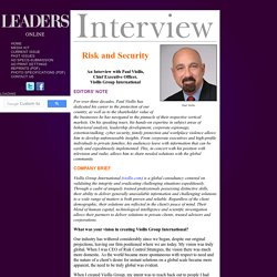 LEADERS Interview with Paul Viollis, Chief Executive Officer, Viollis Group International