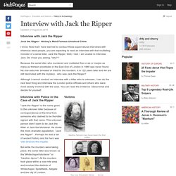 Interview with Jack the Ripper