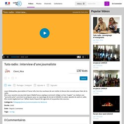 Tuto radio : interview d'une journaliste - Acamedia