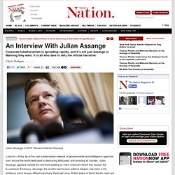 An Interview With Julian Assange