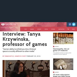 Interview: Tanya Krzywinska, professor of games