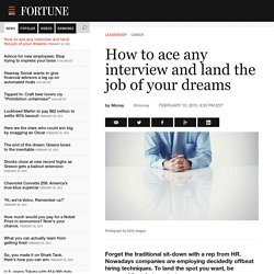 How to ace any interview and land the job of your dreams