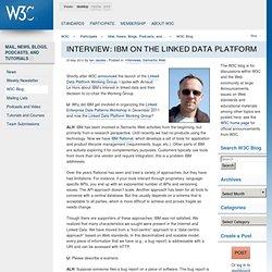 IBM on the Linked Data Platform