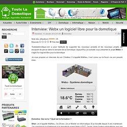 Interview: Webx un logiciel libre pour la domotique