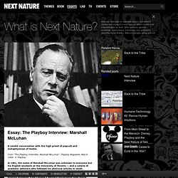The Playboy Interview: Marshall McLuhan