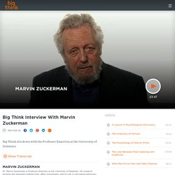 Big Think Interview With Marvin Zuckerman