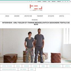 Interview Orli Tesler Itamar Mendelovitch designers bois