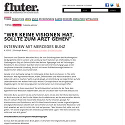 Interview mit Mercedes Bunz : Artikel Internet : fluter.de