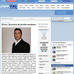 20/04/08 interview de jocelyn morisson SITE Paperblog.fr