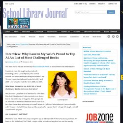 Interview: Why Lauren Myracle's Proud to Top ALA's List of Most Challenged Books