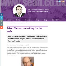 Interview: Jakob Nielsen on writing for the web by Sean McManus
