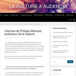 Interview de Philippe Mairesse, professeur de la majeure - La culture à Audencia