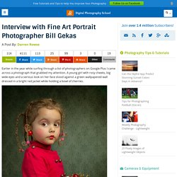Interview with Fine Art Portrait Photographer Bill Gekas